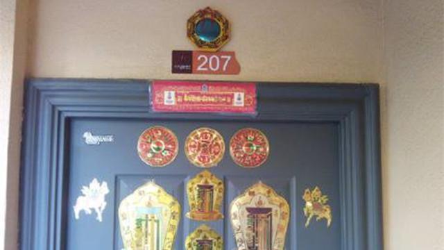 门口的八卦镜