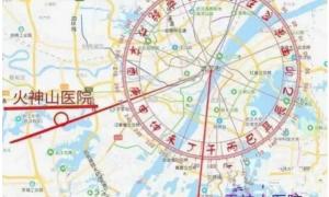 火神山在武汉西偏南方向