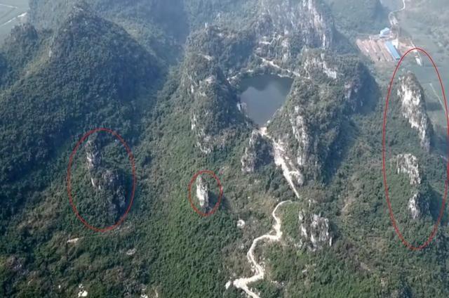 广西来宾八仙天池风水宝地,又名八仙托玉盘风水宝地